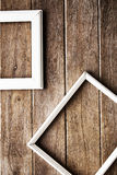 picture frame on the Wooden  wall Royalty Free Stock Photo