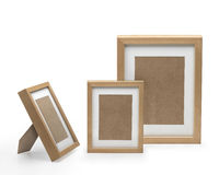 Picture frames. Three picture frames. Clipping path inside royalty free stock photos