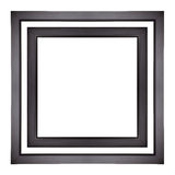 Picture Frames. Black picture frames isolated. Frame royalty free stock photos