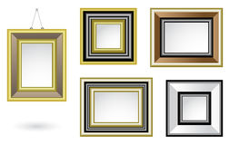 Picture frames. A set of various decorative picture frames stock illustration