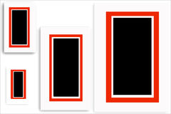 Picture frames. Red border frames Stock Image