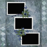 Picture-frames on abstract background Royalty Free Stock Photography