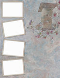 Picture-frames on abstract background Stock Photo