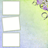 Picture-frames on abstract background Royalty Free Stock Photo