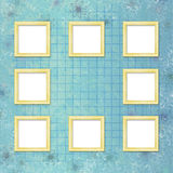 Picture-frames on abstract background Stock Images