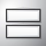 Picture Frames Black Horizontal Royalty Free Stock Photo
