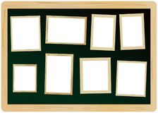 picture frames on a blackboard Royalty Free Stock Photography