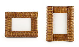 Picture frames with clipping path. Two picture frames isolated on white with clipping path. See also similar photos Stock Image