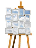Picture frames with clouds Royalty Free Stock Images