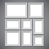 Picture Frames Collage Stock Photography