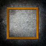 Picture frames on concrete  wall Royalty Free Stock Photography