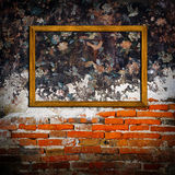 Picture frames on concrete  wall Royalty Free Stock Photos