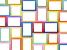 Picture Frames Gallery wall Stock Image