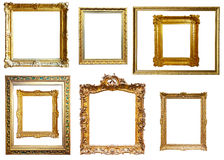 Picture frames. Isolated over white Royalty Free Stock Photography