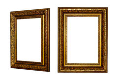 Picture frames. Isolated. White background royalty free stock photos