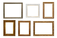 Picture frames. Isolated on white background Stock Photo