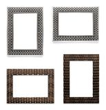 Picture Frames Isolated on White. Four Picture Frames Isolated on White Background Royalty Free Stock Photo