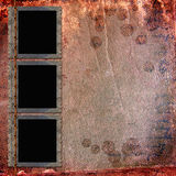 Picture Frames on leather background Stock Image