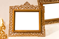 Picture frames. Made of wood stock images