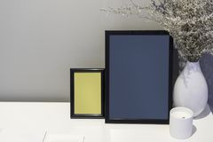 Picture frames mockup  background Stock Photos