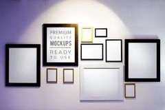 Picture frames mockup. Picture ads Royalty Free Stock Photography
