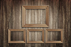 Picture frames on the old wall Royalty Free Stock Images