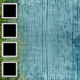 Picture-frames  on old wooden background Royalty Free Stock Image