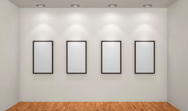 Picture frames or photos in art gallery Royalty Free Stock Image