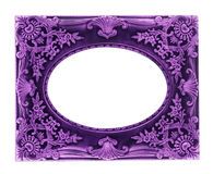 Picture Frames purple Stock Images