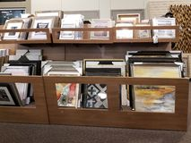 Picture frames for sale at furniture market. TX USA stock photo