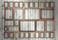 Frames on wall Royalty Free Stock Image