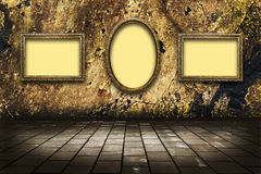 Picture frames on a stone grange background Stock Photo