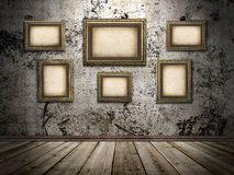 Picture frames on a stone grange background Stock Photos