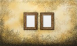 Picture frames. Two picture frames on grunge background Stock Photos