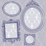 Picture frames on the wall stock illustration