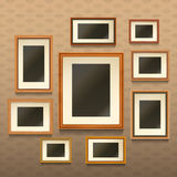 Picture Frames On Wall Royalty Free Stock Images