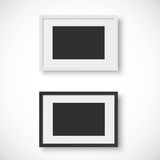 Picture frames on white background Royalty Free Stock Images