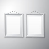 Picture Frames White Vertical Royalty Free Stock Photos