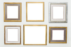 Picture frames. On the white wall stock images