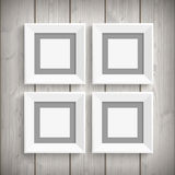4 Picture Frames Wood Stock Photography