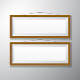 Picture Frames Wooden Horizontal Stock Image