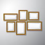 Picture Frames Wooden Variety Royalty Free Stock Images