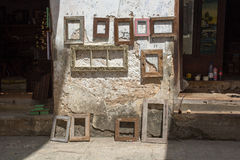 Picture frames in Zanzibar Royalty Free Stock Photos