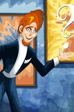 Funny artist character cartoon style  illustration Stock Photo