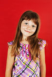 Picture of a funny little girl Stock Photos