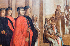 Picture in Gallerie dell`Accademia in Venice Stock Photo