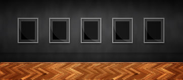 Picture gallery. Illustration with blank frames, where you can paste anything you want Royalty Free Stock Photo