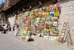 Picture Gallery at Florian Gate in Cracow Stock Photography