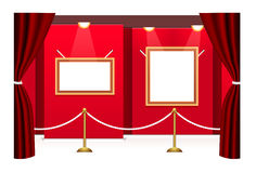 Picture gallery with frameworks Royalty Free Stock Photo