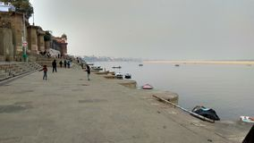 Ganga Riverbank Varanasi royalty free stock photography